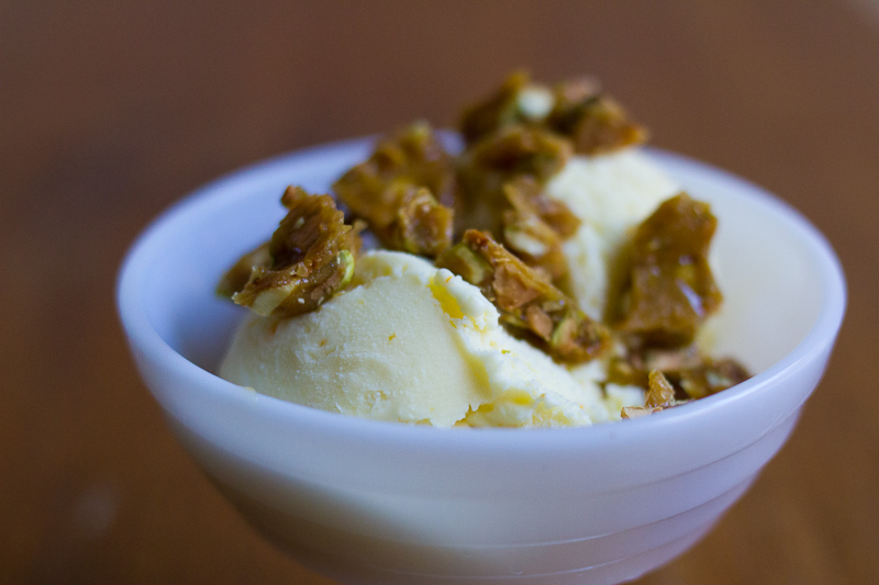 olive oil ice cream | angel food cake | Full recipe at The Answer is Always Pork